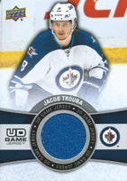 2015-16 Upper Deck Game Jersey JACOB TROUBA Fabric Swatch UD 02513