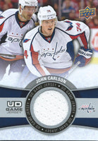 2015-16 Upper Deck Game Jersey JOHN CARLSON Fabric Swatch UD 02523