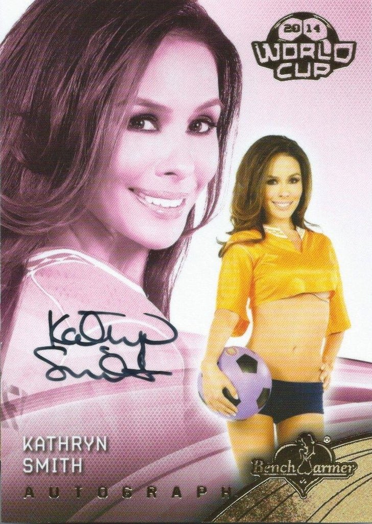 2014 Bench Warmer Soccer World Cup KATHRYN SMITH Autograph Authentic