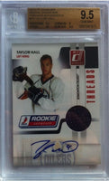 2010-11 Donruss Rookie Showcase TAYLOR HALL Auto/Jersey RC BGS 9.5 57/100