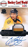 2011-12 The Cup CRAIG SMITH Patch/Auto Rookie 38/249 RC - 3 Colors