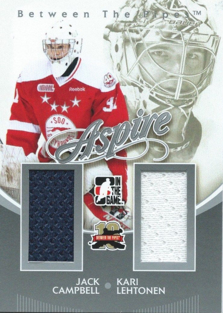 2011-12 ITG Between the Pipes Aspire CAMPBELL / LEHTONEN Dual Jersey 02274
