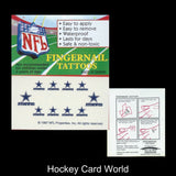 Dallas Cowboys Fingernail Tattoos Set of 10 Decal Sticker Licensed NFL