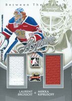 2011-12 ITG Between the Pipes Aspire BROSSOIT / KIPRUSOFF Jersey 02271
