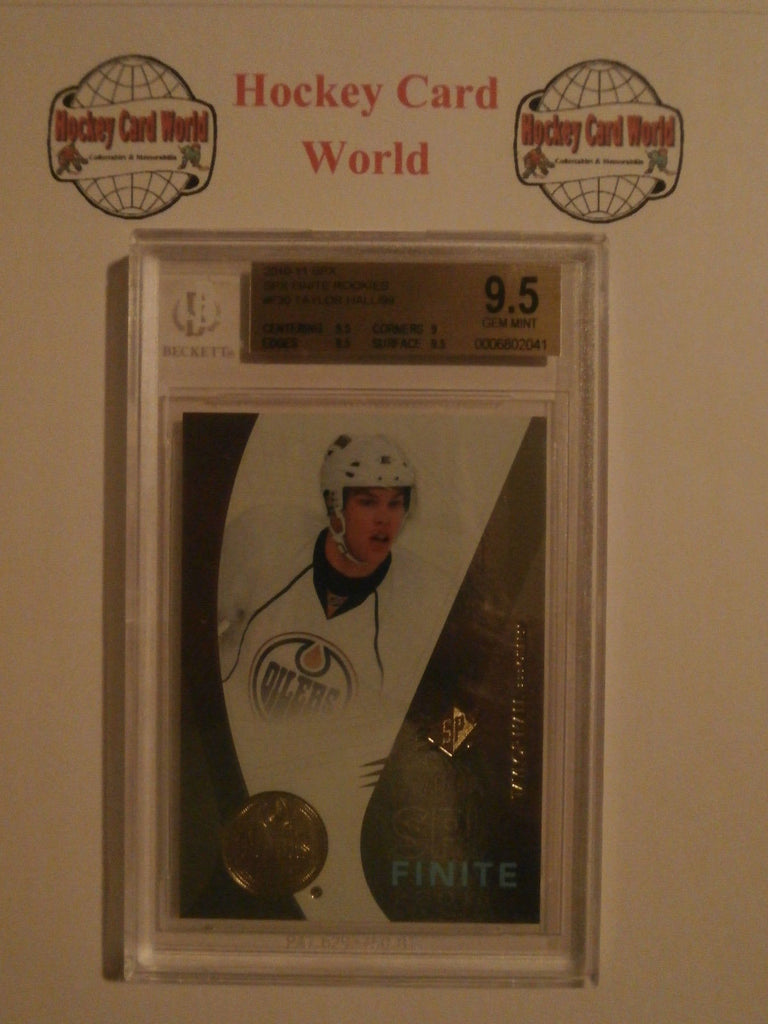 2010-11 SPX Finite TAYLOR HALL RC BGS 9.5 - 20/99 Rookie Edmonton Oilers