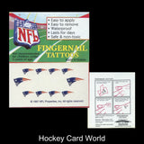 New England Patriots Fingernail Tattoos Set of 10 Decal Sticker Licensed