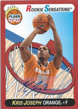 2012-13 Fleer Retro Autographs KRIS JOSEPH Auto Signature Rookie 01198