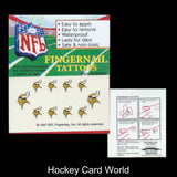 Minnesota Vikings Fingernail Tattoos Set of 10 Decal Sticker Licensed
