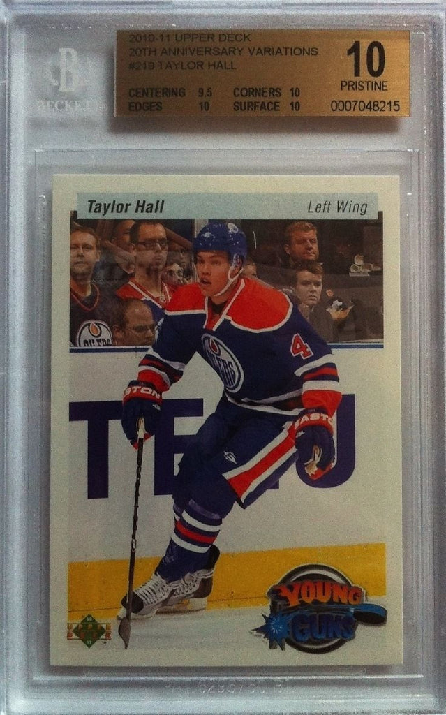2010-11 Upper Deck Retro TAYLOR HALL BGS 10 Young Guns YG RC 9.5 10 10 10
