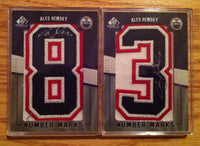 2007-08 SP Game Used ALES HEMSKY Number Marks Auto Set 83 Numberplate