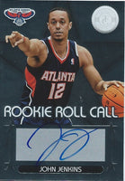 2012-13 Totally Certified Rookie Roll Call JOHN JENKINS Auto 01147