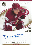 2007-08 SP Authentic PETER MUELLER Auto/RC #/999 Future Watch Rookie 00029