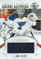 2012-13 Panini Limited Crease Cleaners JAKE ALLEN 66/99 Jersey 01833