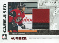 2007-08 Heroes and Prospects Numbers ANGELO EXPOSITO /20 $50  3CLR 02289