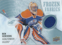2014-15 Upper Deck Artifacts Frozen Fabrics BEN SCRIVENS Jersey NHL 01841