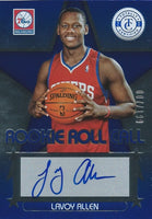 2012-13 Totally Certified Rookie Roll Blue LAVOY ALLEN /199 Auto 01148
