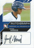 2011 ITG Heroes and Prospects Close Up JAMES HARRIS /190* Auto 01250