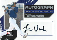 2011 ITG Heroes and Prospects Full Body LEVON WASHINGTON /390* Auto 01248