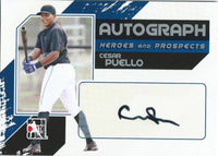 2011 ITG Heroes and Prospects Full Body CESAR PUELLO /390* Auto MLB 01247
