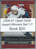 2006-07 Upper Deck Award Winners Set 1-7 - Ovechkin, Thornton, Jagr, 02385