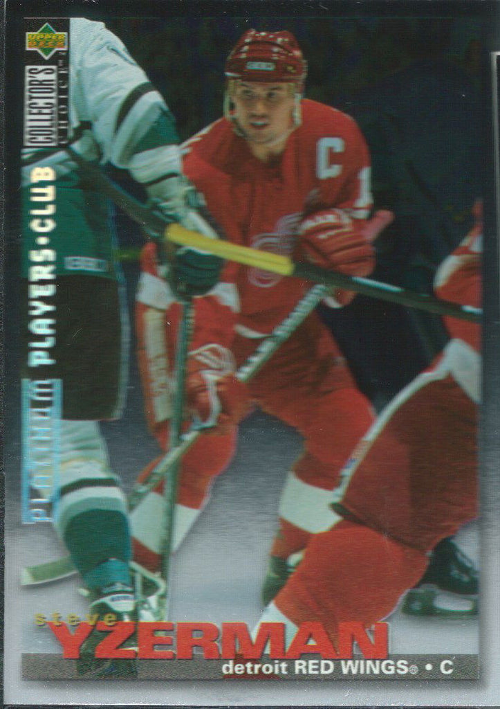 1995-96 Collector's Choice Player's Club Platinum STEVE YZERMAN $30 01374