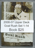 2006-07 Upper Deck Goal Rush Set 1-14 - Ovechkin, Crosby, Jagr, + 02387