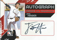 2011 ITG Heroes and Prospects Full Body JAKE HAGER /390* Auto MLB 01249