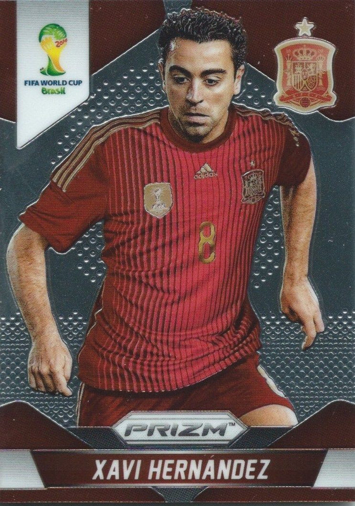 2014 Panini Prizm World Cup Prizms XAVI HERNANDEZ Soccer Spain Football