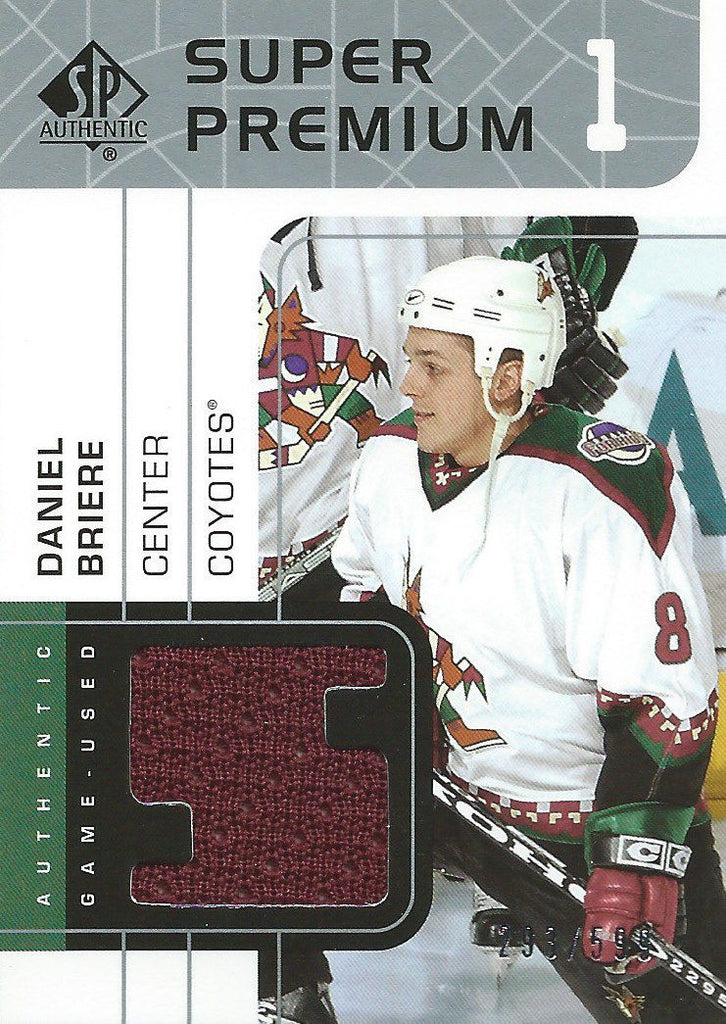 2002-03 UD SP Authentic Fabrics DANIEL BRIERE 293/599 Jersey NHL 01952