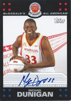 2008 Topps McDonald's All-American MICHAEL DUNIGAN Auto **SP** 01141