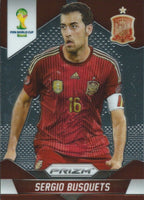 2014 Panini Prizm World Cup Prizms SERGIO BUSQUETS Soccer Spain Football