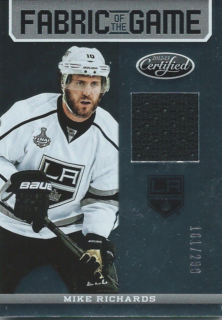 2012-13 Certified Fabric of Game MIKE RICHARDS 161/299 Jersey NHL 01957