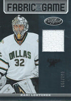 2012-13 Certified Fabric of Game KARI LEHTONEN 52/299 Jersey NHL 01959