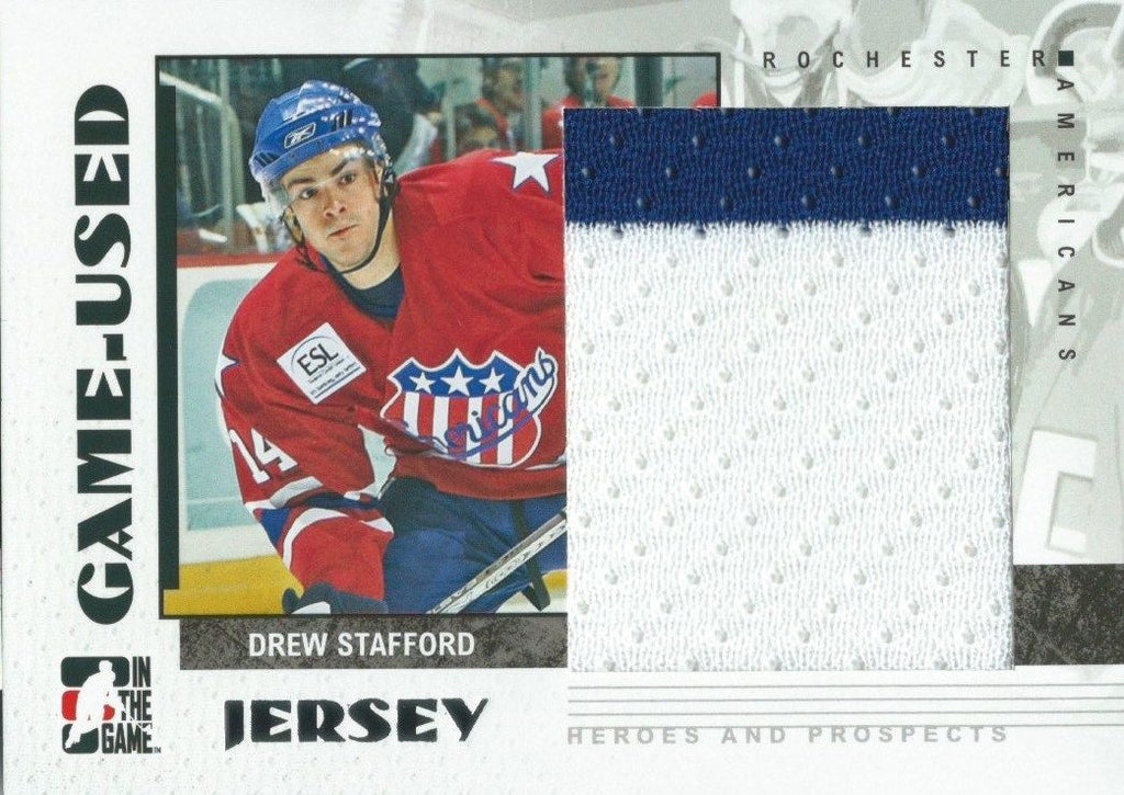 2007-08 ITG Heroes and Prospects Jerseys DREW STAFFORD Game /130*  02314