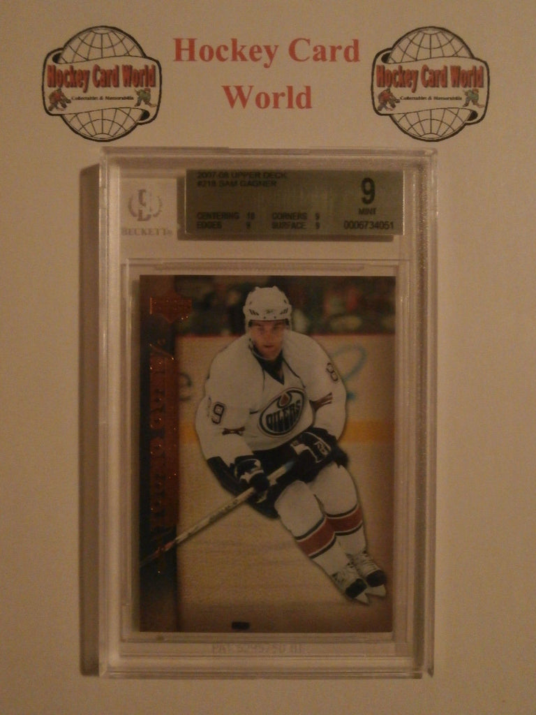 2007-08 Upper Deck SAM GAGNER BGS 9 Young Guns RC Oilers 10 9 9 9