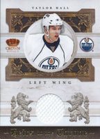 2010-11 Crown Royale TAYLOR HALL 51/250 Jersey Throne Materials 02038