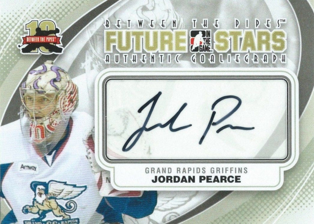 2011-12 ITG Between the Pipes Future Stars JORDAN PEARCE Autograph 00832