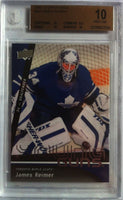 2009-10 Upper Deck JAMES REIMER BGS 10 Young Guns RC 10 10 9.5 10 Leafs