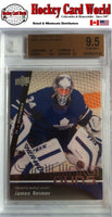 2009-10 Upper Deck JAMES REIMER BGS 9.5 Young Guns RC 10 9.5 9 9.5