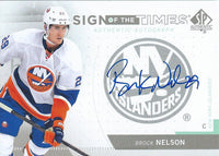 2013-14 UD SP Authentic Sign of Times BROCK NILSON (14-15) Autograph 02505