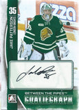 2013-14 Between the Pipes JAKE PATERSON Autograph Auto Goaliegraph 00830