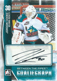 2013-14 Between the Pipes JORDON COOKE Autograph Auto Goaliegraph 00448
