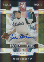 2009 Donruss Elite Extra Edition ZACH DOTSON #/699 Rookie Panini New York