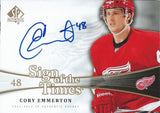 2011-12 SP Authentic Sign Of Times CORY EMMERTON Autograph UD NHL 02494