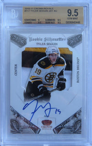 2010-11 Crown Royale TYLER SEGUIN Jersey Auto RC BGS 9.5 21/99 Silhouettes