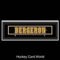 Marc-Andre Bergeron Boston Bruins FramedFacsimile Auto 24x8 Licensed