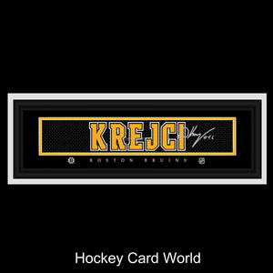 David Krejci Boston Bruins 24x8 NHL Official Licensed
