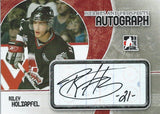 2007-08 ITG Heroes and Prospects RILEY HOLZAPFEL Autographs 00515
