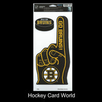Boston Bruins Multi-Use Decal/Sticker 2 Pack Finger/Puck NHL 4