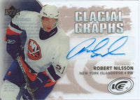 2005-06 UD Ice Glacial Graphs ROBERT NILSSON Auto Upper Deck 00199